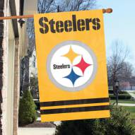 Pittsburgh Steelers Gold Applique Banner Flag