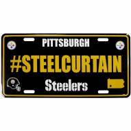 Pittsburgh Steelers Hashtag License Plate