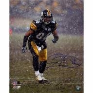 "Pittsburgh Steelers Hines Ward Snow Signed 16"" x 20"" Photo"