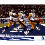 "Pittsburgh Steelers Hines Ward Super Bowl 43 Triple Exposure Signed 16"" x 20"" Photo"