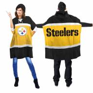 Pittsburgh Steelers Hoodie Poncho