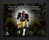 Pittsburgh Steelers Jack Lambert Football Framed Pro Quote