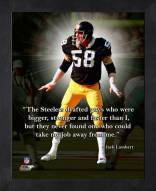Pittsburgh Steelers Jack Lambert Framed Pro Quote