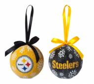 Pittsburgh Steelers LED Boxed Ornament Set