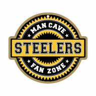 Pittsburgh Steelers Man Cave Fan Zone Wood Sign