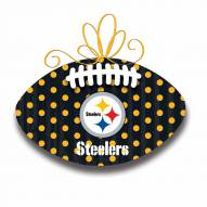 Pittsburgh Steelers Metal Football Door Decor