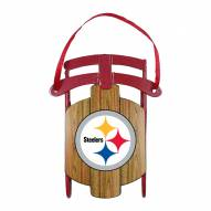 Pittsburgh Steelers Metal Sled Tree Ornament