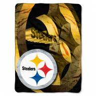 Pittsburgh Steelers Micro Raschel Bevel Blanket
