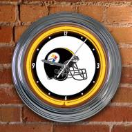 Pittsburgh Steelers NFL Neon Wall Clock