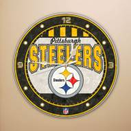 Pittsburgh Steelers NFL Stained Glass Wall Clock