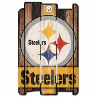 Pittsburgh Steelers NFL Wood Fence Sign