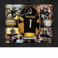 Pittsburgh Steelers Personalized Framed Action Collage