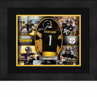 Pittsburgh Steelers Personalized 13 x 16 Framed Action Collage