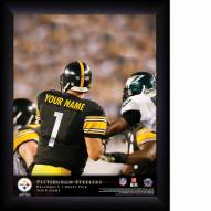 Pittsburgh Steelers Personalized NFL Action QB Framed Print