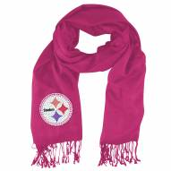 Pittsburgh Steelers Pink Pashi Fan Scarf