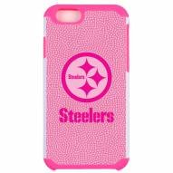 Pittsburgh Steelers Pink Pebble Grain iPhone 6/6s Case