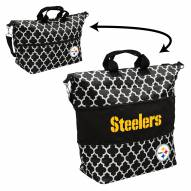 Pittsburgh Steelers Quatrefoil Expandable Tote