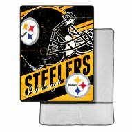 Pittsburgh Steelers Sherpa Foot Pocket Blanket