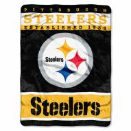 Pittsburgh Steelers Sky Helmet Raschel Blanket