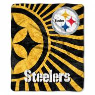 Pittsburgh Steelers Strobe Sherpa Blanket