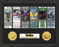 Pittsburgh Steelers Super Bowl Ticket Collection Framed