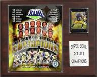 "Pittsburgh Steelers 12"" x 15"" Super Bowl XLIII Champions Plaque"