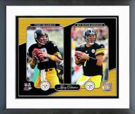 Pittsburgh Steelers Terry Bradshaw & Ben Roethlisberger Legacy Collection Framed Photo