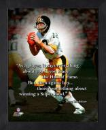 Pittsburgh Steelers Terry Bradshaw Framed Pro Quote
