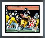 Pittsburgh Steelers Terry Bradshaw Super Bowl X 1976 Action Framed Photo