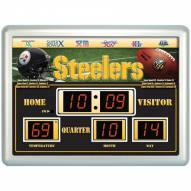 Pittsburgh Steelers Thermometer Scoreboard Clock