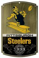 "Pittsburgh Steelers ""Throwback"" Wood Sign"