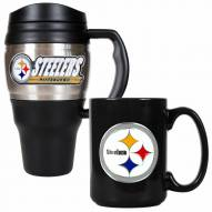 Pittsburgh Steelers Travel Mug & Coffee Mug Set