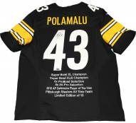 Pittsburgh Steelers Troy Polamalu Signed Nike Authentic Black Jersey