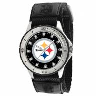 Pittsburgh Steelers Veteran Velcro Mens Watch