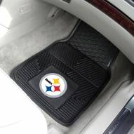 Pittsburgh Steelers Vinyl 2-Piece Car Floor Mats