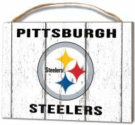 Pittsburgh Steelers Weathered Logo Small Plaque