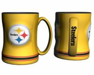 Pittsburgh Steelers Yellow Sculpted Relief Coffee Mug