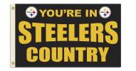 "Pittsburgh Steelers ""You're In Steelers Country"" Flag"