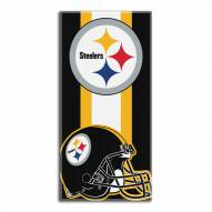Pittsburgh Steelers Zone Read Beach Towel