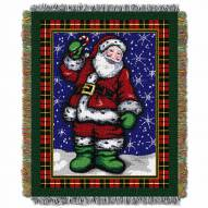 Plaid Santa Throw Blanket