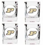 Purdue Boilermakers 4 Piece Square Shot Glasses