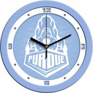 Purdue Boilermakers Baby Blue Wall Clock
