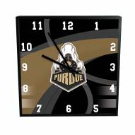 Purdue Boilermakers Carbon Fiber Square Clock