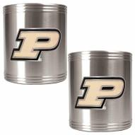 Purdue Boilermakers College Stainless Steel Can Holder 2-Piece Set