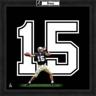 Purdue Boilermakers Drew Brees Uniframe Framed Jersey Photo