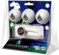 Purdue Boilermakers Golf Ball Gift Pack with Cap Tool