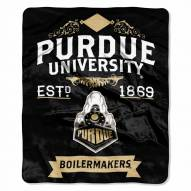 Purdue Boilermakers Label Raschel Throw Blanket
