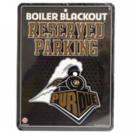 Purdue Boilermakers Metal Parking Sign