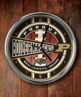Purdue Boilermakers NCAA Chrome Wall Clock