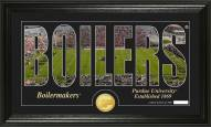 Purdue Boilermakers Silhouette Bronze Coin Panoramic Photo Mint